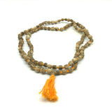 Handcrafted Japa Mala Beads  - Holy Tulsi Tulasi- 108 Prayer Beads Knotted 17""