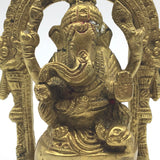 Handcrafted Brass Ganesh Ganapati India Elephant God Statue – Obstacle Remover