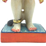 "Handcrafted Pure White Marble Lord Hanuman Idol Murti Statue 12.2 "" - Monkey God"