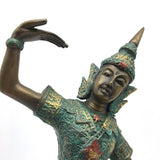 Vintage Thai Teppanom Temple Guard Dancer Dancing Statue Sculpture 11.2""