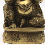 Detailed Brass Ganesh Ganapati India Elephant God Statue – Obstacle Remover 6.7""