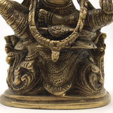 Antique Brass Mata Lakshmi Murti India Statue Idol India Goddess Of Wealth 7.5""