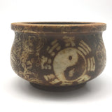 Soapstone Incense Smudging Jade Bowl Pot Natural Henna Coloring - Eastern Style