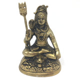Handcrafted Brass India Supreme God Lord Shiva Siva Holding Trishul Statue Idol