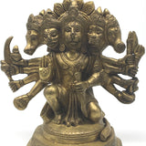 Handcrafted Brass Panchmukhi Hanuman Hanumanji India 5-Face Monkey God Statue
