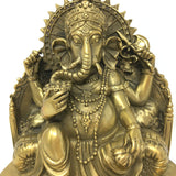 Lovely Detailed Brass Ganesh India Elephant God Statue –Obstacle Remover 5.75""