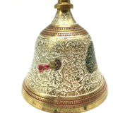 Puja Bell Brass Temple Colorful Ghanta Bell Mandir Home Aarti - India Handcrafte