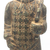 Antique Terracotta Standing Chinese China Warrior Soldier Guard Statue Idol 13.5