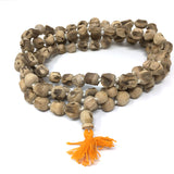Holy Tulsi Tulasi- Handcrafted Japa Mala Beads -108 Prayer Beads Knotted 41.5""