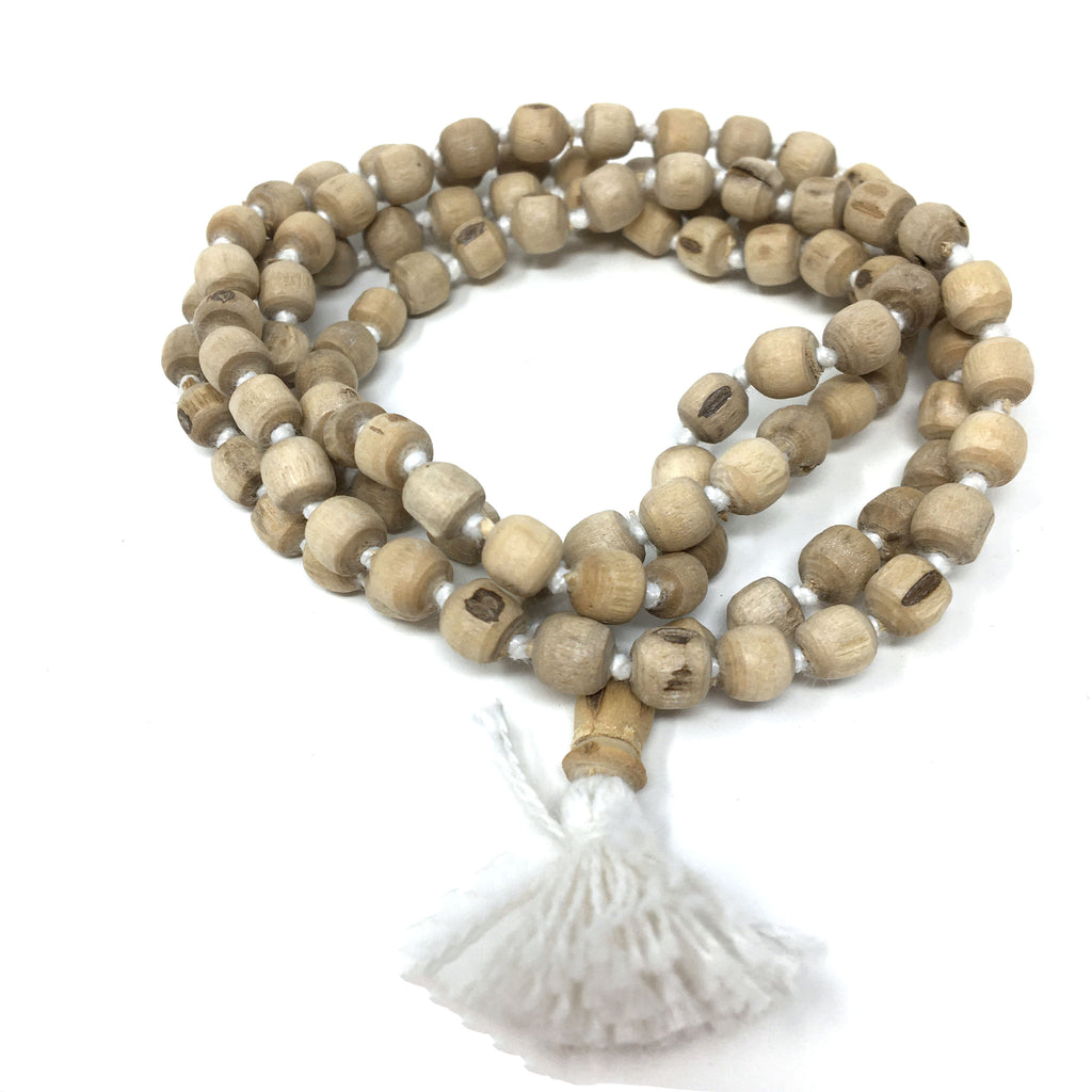 "19"" Japa Mala Beads  - India Tulsi Tulasi- 108 Handcrafted Knotted Prayer Beads"