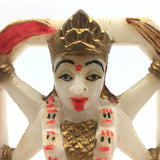 Unique Handcrafted Marble Murti Figure India Goddess Kali Standing Over Shiva