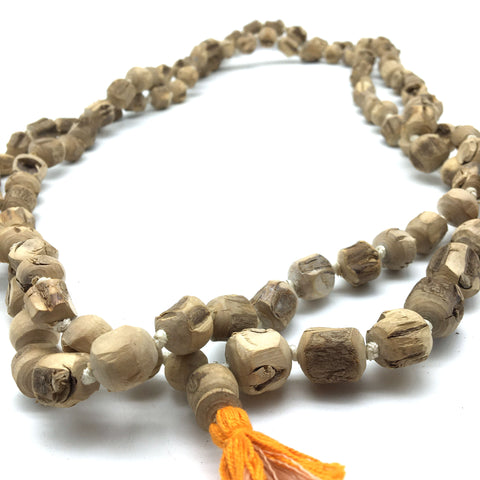 Meditation Tulsi Tulasi Prayer Beads-Handmade Japa Mala 108 Knotted Beads 42""