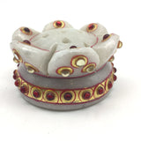 Handcrafted Marble Flower Shaped Decorative Incense Burner Holder for Stick Ince