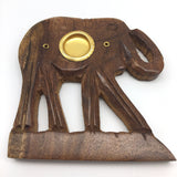 Wooden Handcrafted Elephant Incense Burners for Incense Sticks & Cones