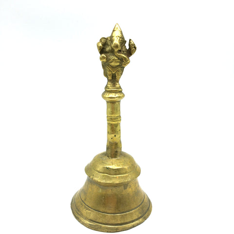 Brass Bell Pooja Puja Temple Ganapati Ghanta Bell For Mandir Home Aarti 6.75""