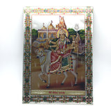 India Goddess Painting Decorative Hanging Mata Mother Durga Ma 11.5""