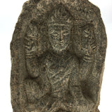 Solid Stone Hand-carved  India Goddess Maha Lakshmi Laxmi  Sculpture Figure 3.5""