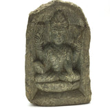 Hand-carved in Solid Stone India Goddess Maha Lakshmi Laxmi  Sculpture Figure 4""