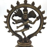 Vintage Handcrafted Brass India God Lord Nataraj Nataraja - Shiva Statue 7.75""