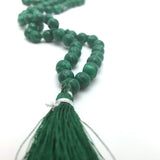 Prayer Mala Beads Chanting Japa- Malachite - 108 Knotted Prayer Beads 18.5""