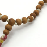 "Handmade Prayer Mala Beads Chanting Japa- Chandan- 108 Prayer Beads 16"" Long"