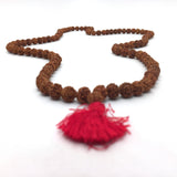 "Rudraksha Mala Japa Bead Prayer Chanting - 108 Prayer Beads  Handmade 18.5"" Long"