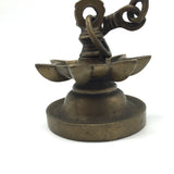 "Decorative Brass Diya Aarti Deepak Lamp Puja Offering Handcrafted  -Chain 32"" Lo"