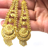 Decorative Brass Gold Plated Earrings for God Statues Deities Murti Handmade Ind