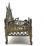 Handcrafted Om Brass Decorative Throne Seat- Got Statues -Vyasasana Singhasan