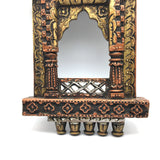 Jharokha Wood Hand Carving Picture Frame Color Painted Home Decor India