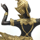 Handcrafted Detailed Bronze Gilt Thai Statue Prince Phra Rama Archer Statue 15.2