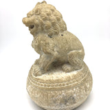 Solid Stone Carved China Chinese Fengshui Foo Fu Dog Guardion Door Lion Statue 1