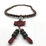 Tibetan Sandalwood brown meditation beads Buddha Mala Buddhist necklace