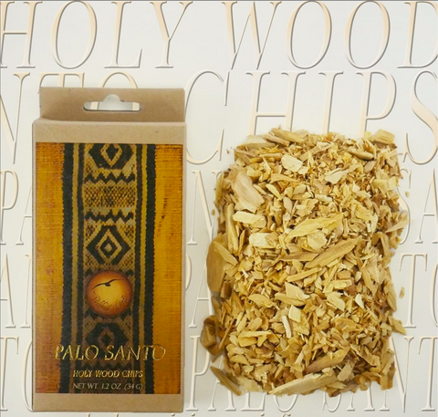 Pure Palo Santo Raw Incense Chips Purifying Incense Wood -Clear Negative Evergy