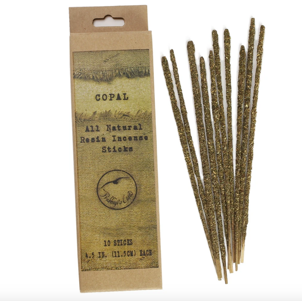 10 Vegan Copal Smudging Incense Sticks - Copal - Natural Resin Incense sticks