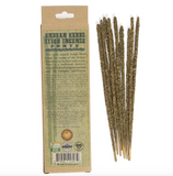 10 Smudging Incense Sticks Forte - Andean Herbs Incense - Purity & Protection