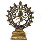 Solid Brass India God Lord Nataraj Nataraja - Shiva Handcrafted Statue 8.75""