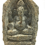 Solid Stone Handcarved Ganesh Ganapati India Elephant God Sculpture Figure 4""