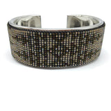 Handcrafted Beaded Inlay Cuff Bracelet - Unisex