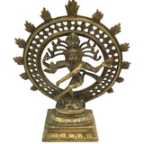 Brass India Dancing God Lord Nataraj Nataraja - Shiva Handcrafted Statue 8.75""
