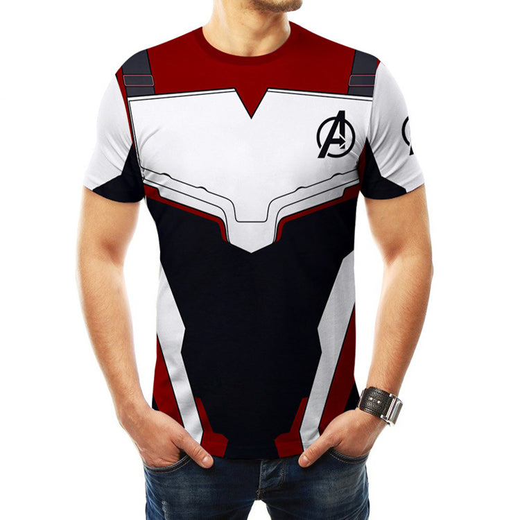 Avengers 4: Endgame Quantum unisex loose short sleeve t-shirt for adult and kids