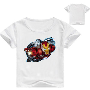 Iron Man cotton Short Sleeve T-Shirt for Kids