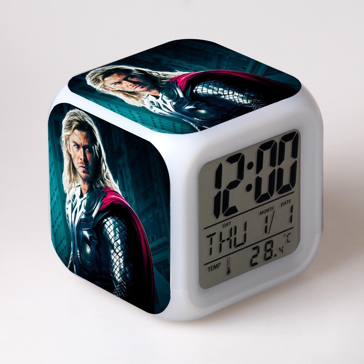 The Avengers Colorful Alarm clock