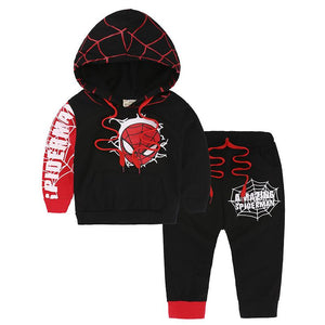 Spider-man Print Hoodie and Pants Set For Kids