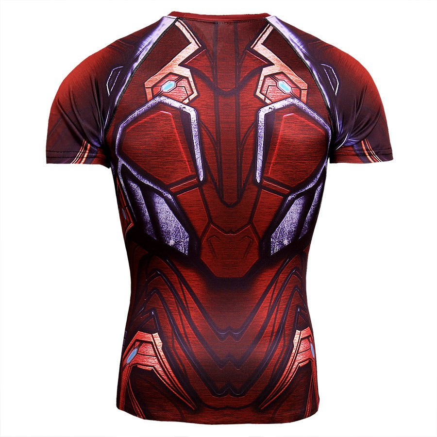 Infinite War Iron Man Clothes Fitness Quick-drying Short Sleeve T-Shirt