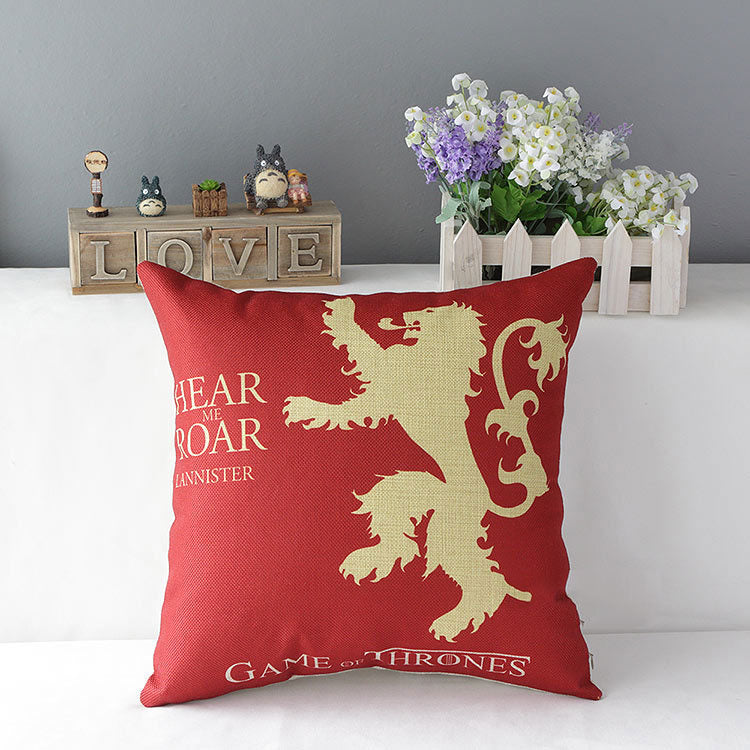 Game of Thrones House Lannister Hold Pillow