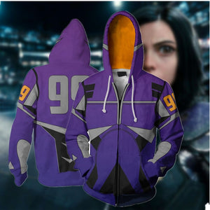 Battle Angel Alita 3D Printed Zipper Hoodie
