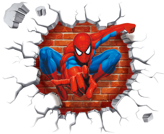 Amazing Spiderman 3D Printed Sticker