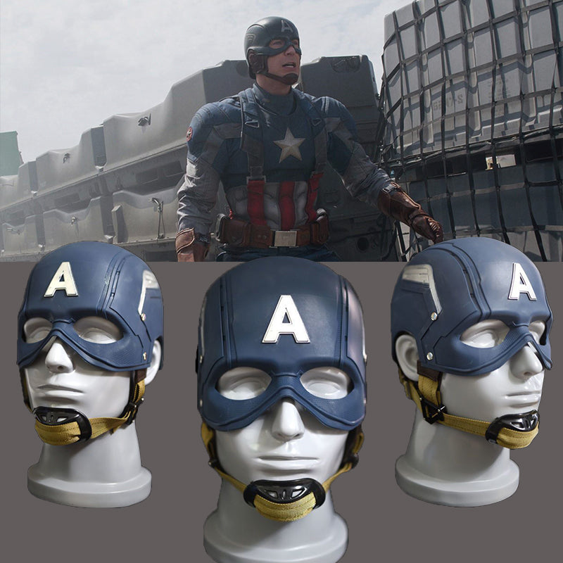 Captain America Movie props cosplay Natural environmentally friendly latex Mask