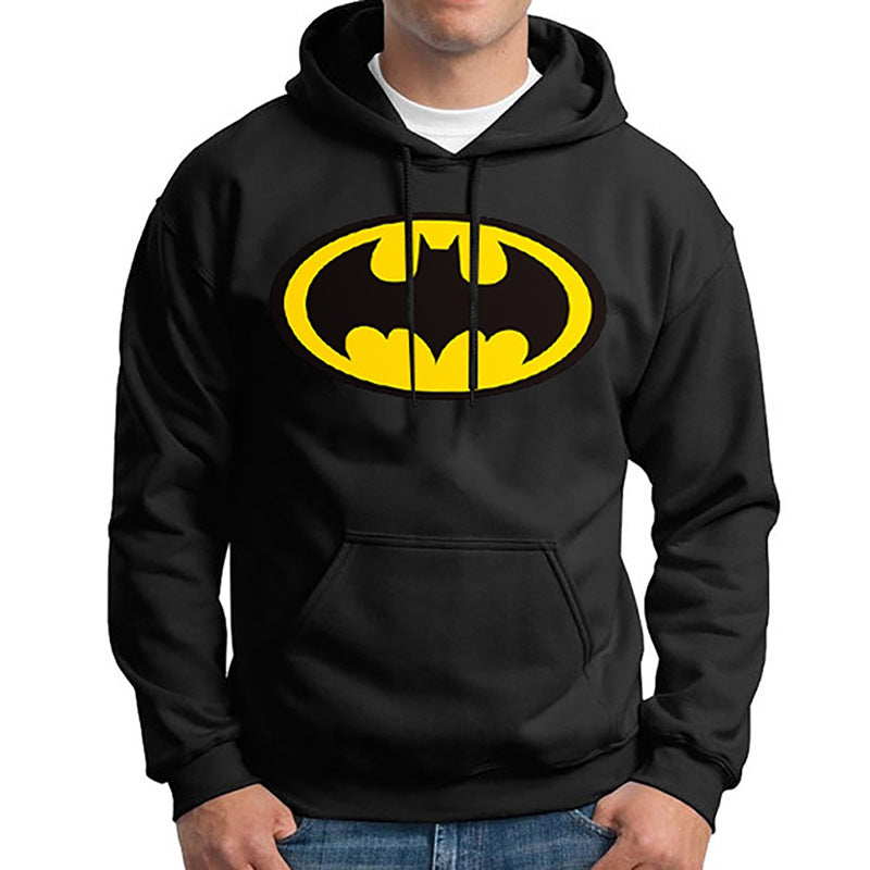 New Superman Batman Print Hoodie